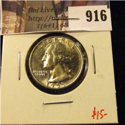1955-D Washington Quarter, BU, low mintage semi-key date, value $15