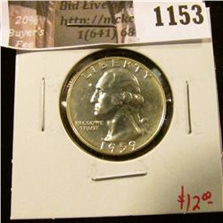 1153 . 1959 Proof Washington Quarter, value $12