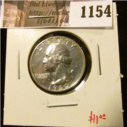 1154 . 1960 Proof Washington Quarter, value $11