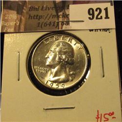 1959-D Washington Quarter, BU blast white, value $15