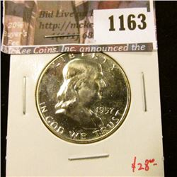 1163 . 1957 Proof Franklin Half Dollar, value $28