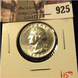 1963-D Washington Quarter, BU blast white, value $15