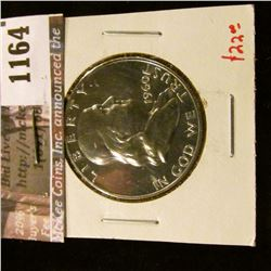 1164 . 1960 Proof Franklin Half Dollar, value $22