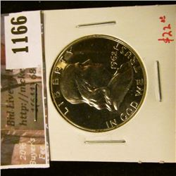 1166 . 1962 Proof Franklin Half Dollar, value $22