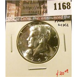 1168 . 1965 SMS Proof-like Kennedy Half Dollar, value $20