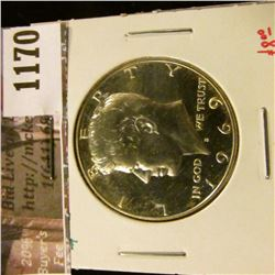 1170 . 1969-S Proof Kennedy Half Dollar, 40% Silver, value $8