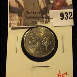 2000-P South Carolina Washington Statehood Quarter, BU struck off-center, scarce error, value $10+
