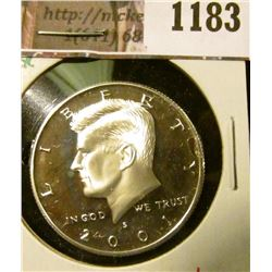 1183 . 2001-S Proof Kennedy Half Dollar, 90% Silver, value $18