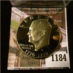 1184 . 1976-S type 2 Proof Eisenhower Dollar, value $12+