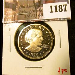 1187 . 1979-S type 1 Proof Susan B. Anthony Dollar, value $7
