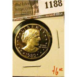 1188 . 1980-S Proof Susan B. Anthony Dollar, value $6