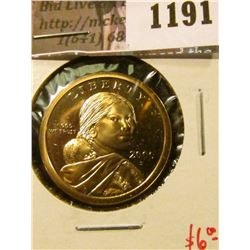 1191 . 2000-S Proof Sacagawea Dollar, value $6