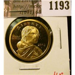 1193 . 2003-S Proof Sacagawea Dollar, value $6