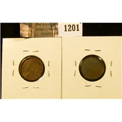 "1201 . (2) ""Magician Coins"" – Lincoln Cents hollowed out to accept"