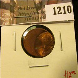 1210 . ERROR – Lincoln Cent, off-center strike, value $12+