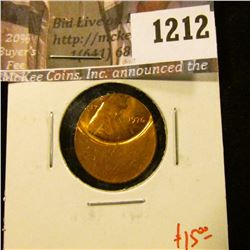1212 . ERROR – 1976 Lincoln Cent, off-center strike, value $15+