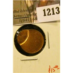 1213 . ERROR – 1980 Lincoln Cent, off-center strike, value $15+