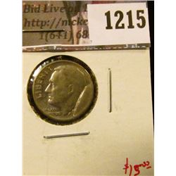 1215 . ERROR – Roosevelt Dime, LARGE die cud over date, value $15+