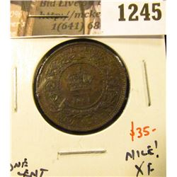1245 . 1864 Nova Scotia One Cent, XF, NICE, value $35+