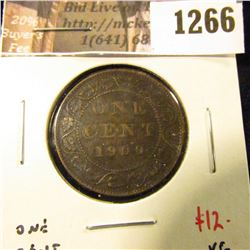 1266 . 1900H Canada One Cent, XF, value $12