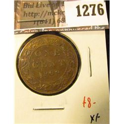 1276 . 1909 Canada One Cent, XF, value $8