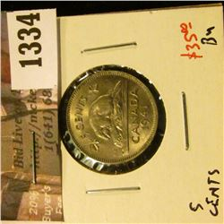 1334 . 1941 Canada Five Cents, BU, value $35