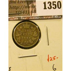 1350 . 1898 Canada Ten Cents, obverse 5, G, value $25