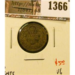 1366 . 1914 Canada Ten Cents, VG, value $5