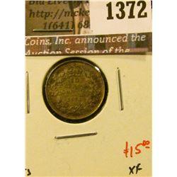 1372 . 1920 Canada Ten Cents, XF, value $15