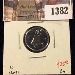 1382 . 1991 Canada Ten Cents, BU, value $25