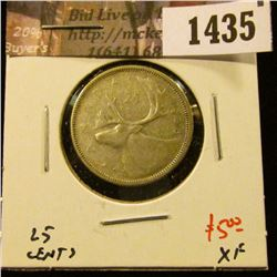 1435 . 1956 Canada 25 Cents, XF, value $5
