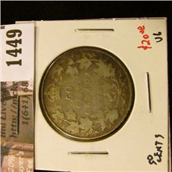 1449 . 1913 Canada 50 Cents, VG, value $20