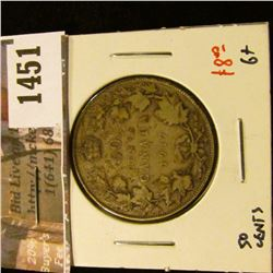 1451 . 1917 Canada 50 Cents, G+, value $8