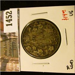 1452 . 1919 Canada 50 Cents, VG, value $14
