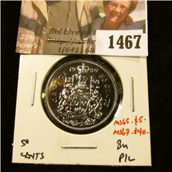 1467 . 1980 Canada 50 Cents, BU, MS65 value $5, MS67 value $40
