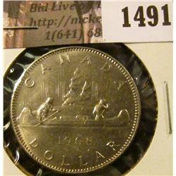 1491 . 1968 Canada One Dollar, BU, value $15+