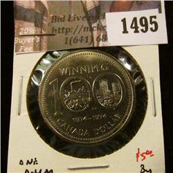 1495 . 1974 Canada One Dollar, BU, value $5+
