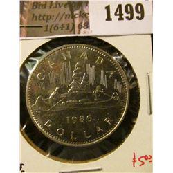 1499 . 1986 Canada One Dollar, BU, value $5+