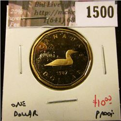 1500 . 1987 Canada One Dollar, Proof, value $10+