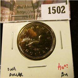 1502 . 1991 Canada One Dollar, BU, value $10+