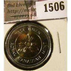 1506 . (1994-1995) Undated Canada 2 Dollar Test Token, Nickel ring,