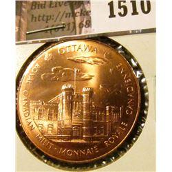 1510 .  Royal Canadian Mint Medal, obverse Ottawa, reverse Wiinipeg