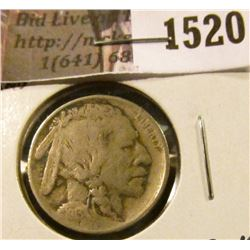 1520 . 1913 P Type One Buffalo Nickel, Fine.