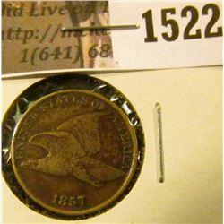 1522 . 1857 Flying Eagle Cent, VF.