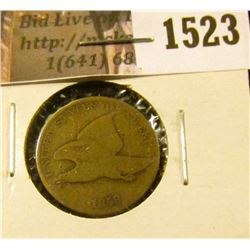 1523 . 1858 LL Flying Eagle Cent, G/AG.