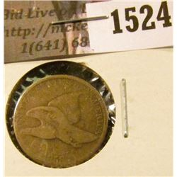 1524 . 1858 SL Flying Eagle Cent, AG/G.