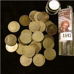 """1543 . (30) Circulated Liberty """"V"""" Nickels 1891-1912."""
