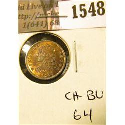 1548 . 1830 Capped Bust Half Dime, CH BU 64.