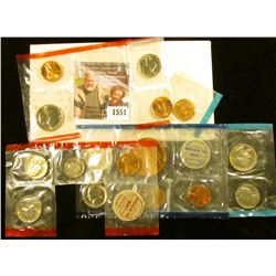 1551 . Lot of partial U.S. Mint Sets: 1970 Cents PDS, Nickels DS, D