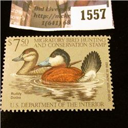 1557 . 1981 Federal Migratory Waterfowl $7.50 Stamp, Mint, unsigned